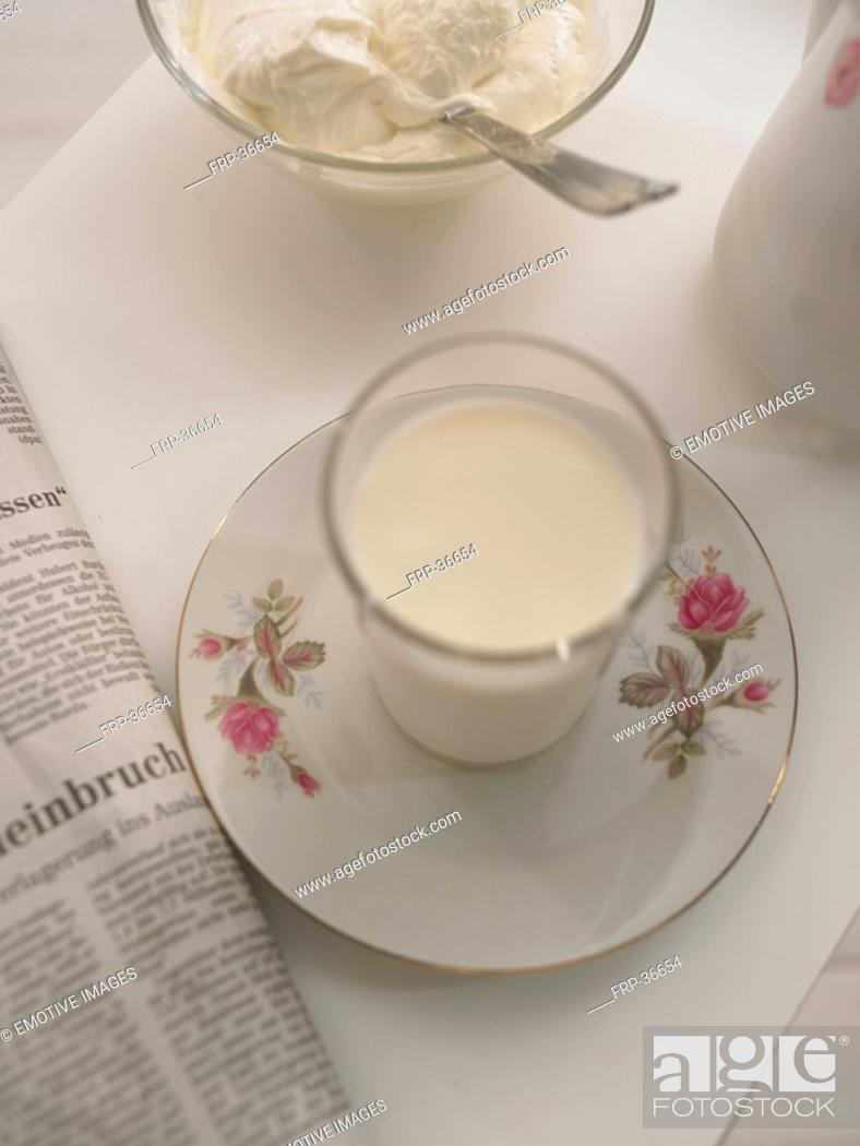 Stock Photo: glass with milk.