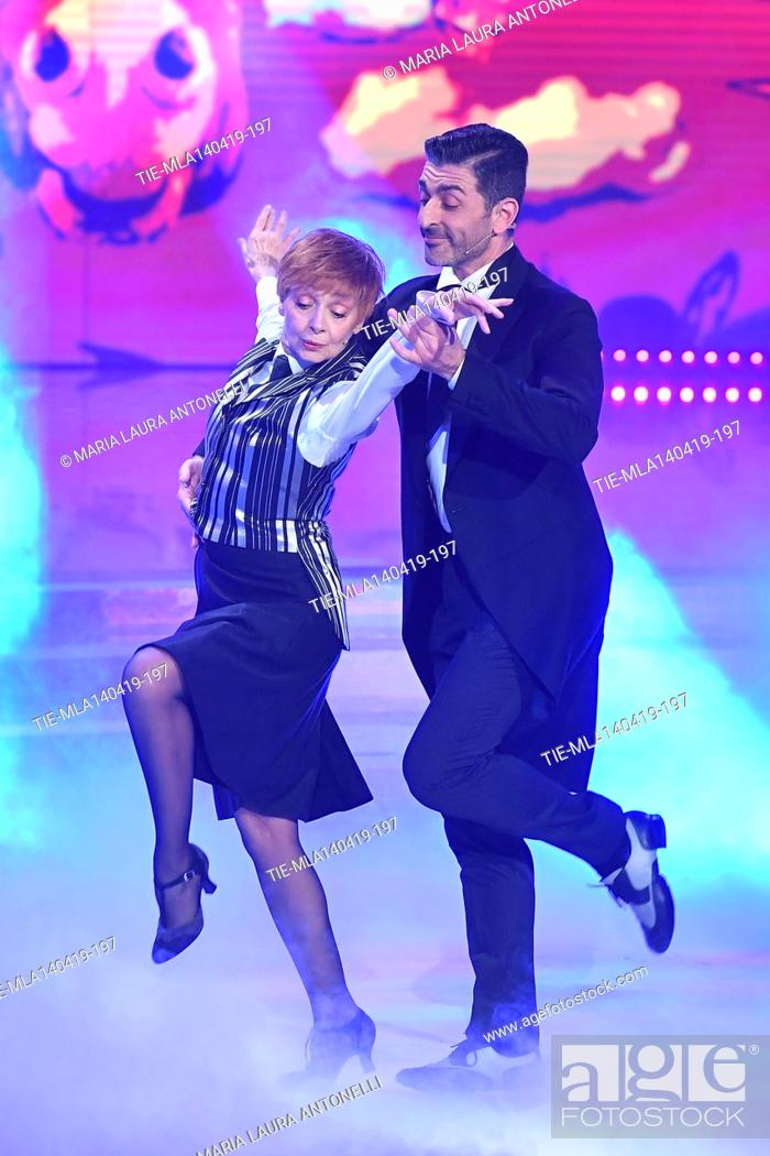 Imagen: Milena Vukotic during the performance at the talent show ' Ballando con le stelle ' (Dancing with the stars) Rome, ITALY-14-04-2019.