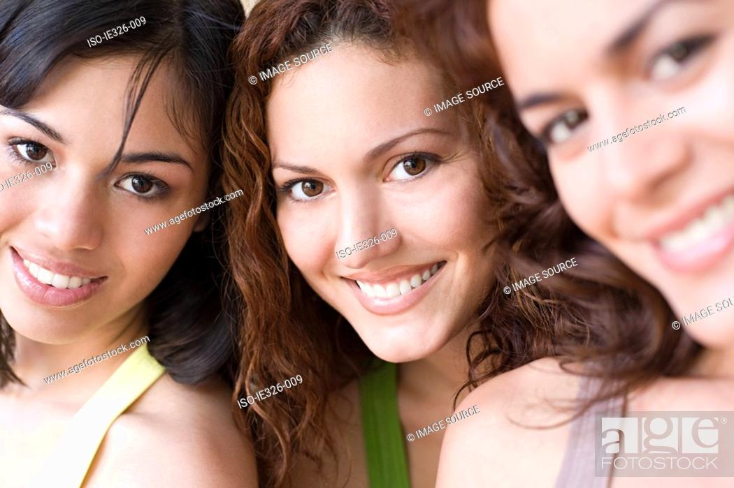 Stock Photo: Three young women.
