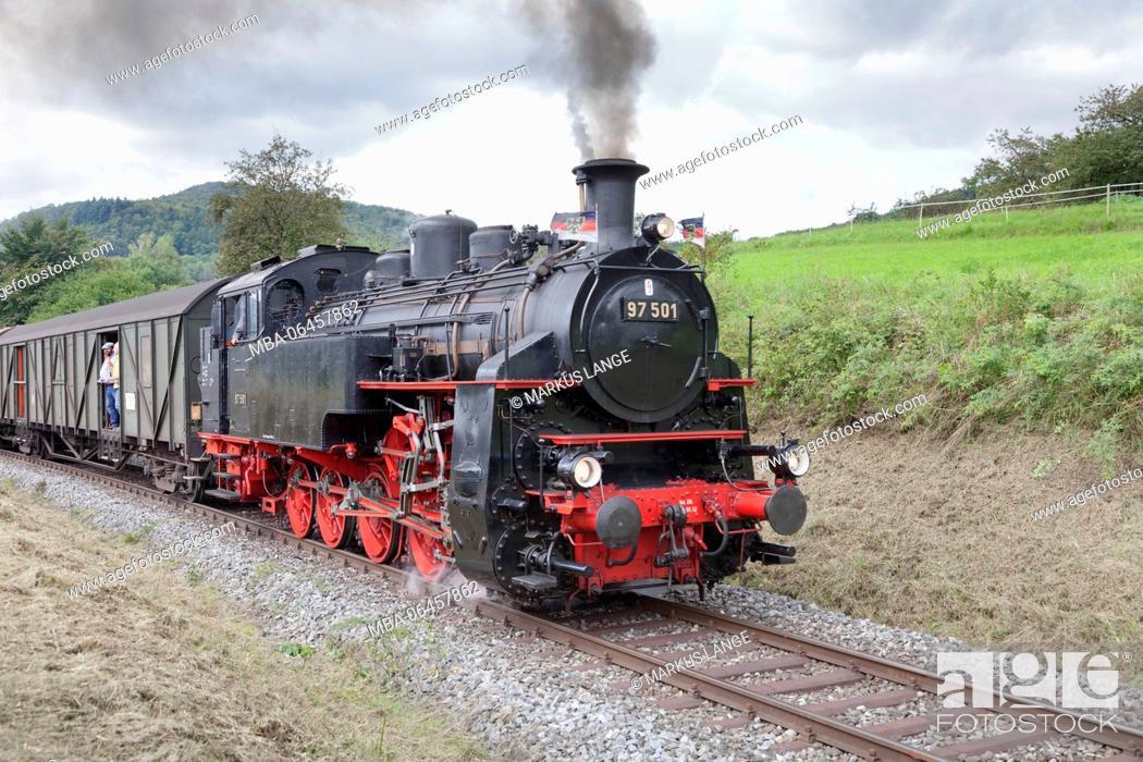 Stock Photo: Swabian forest railway, Rudersberg, Swabian wood, Baden Württemberg, Germany.