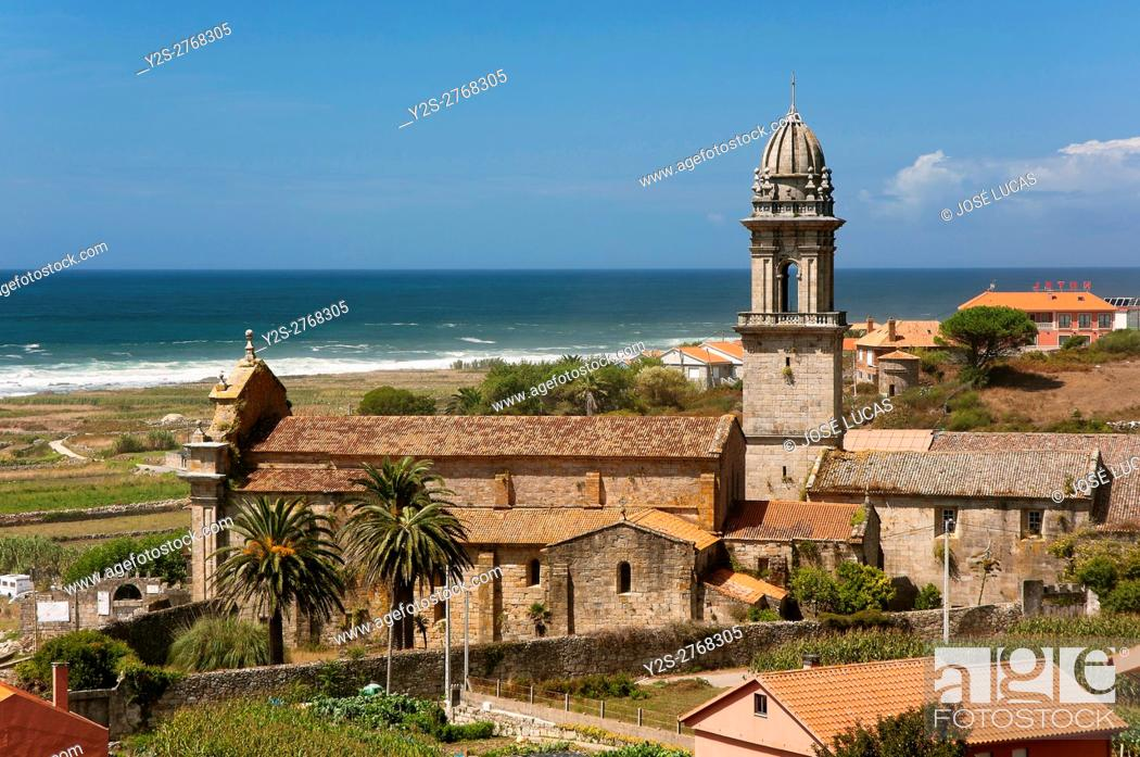 Stock Photo: Royal Monastery of Santa Maria-12th century, Oia, Pontevedra province, Region of Galicia, Spain, Europe.
