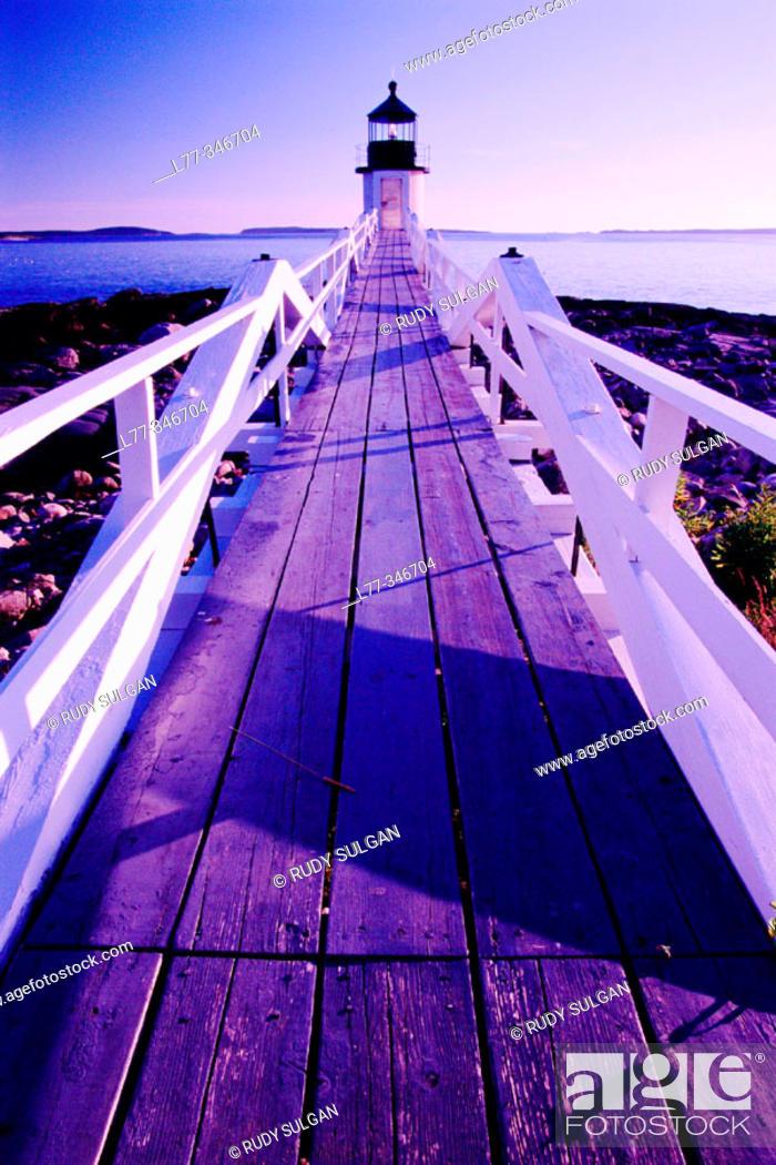 Stock Photo: Marshall Point Light. Port Clyde. Maine, USA.