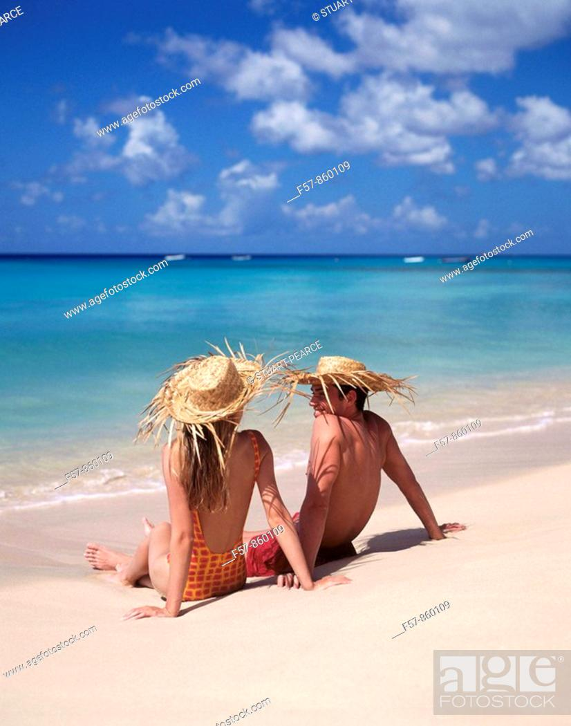 Stock Photo: Couple in Barbados, Caribbean.