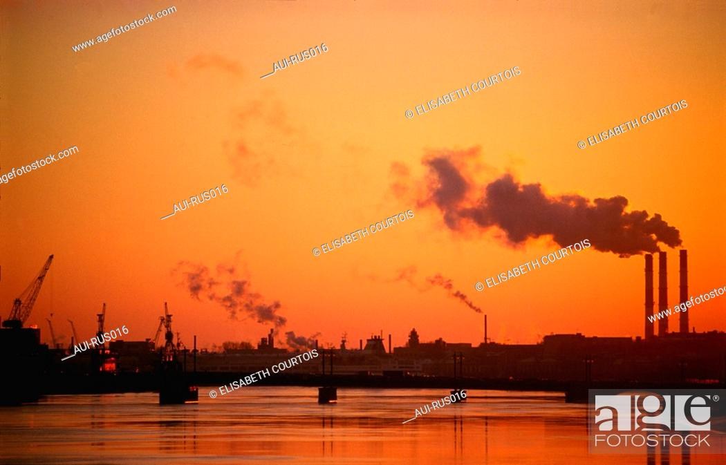Stock Photo: Russia - St Petersburg - View of the Harbour.