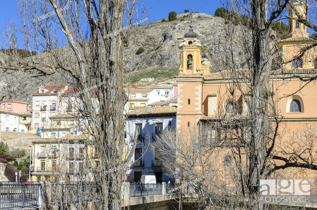 Stock Photo: View of San Anton quarter, Cuenca city, Spain.