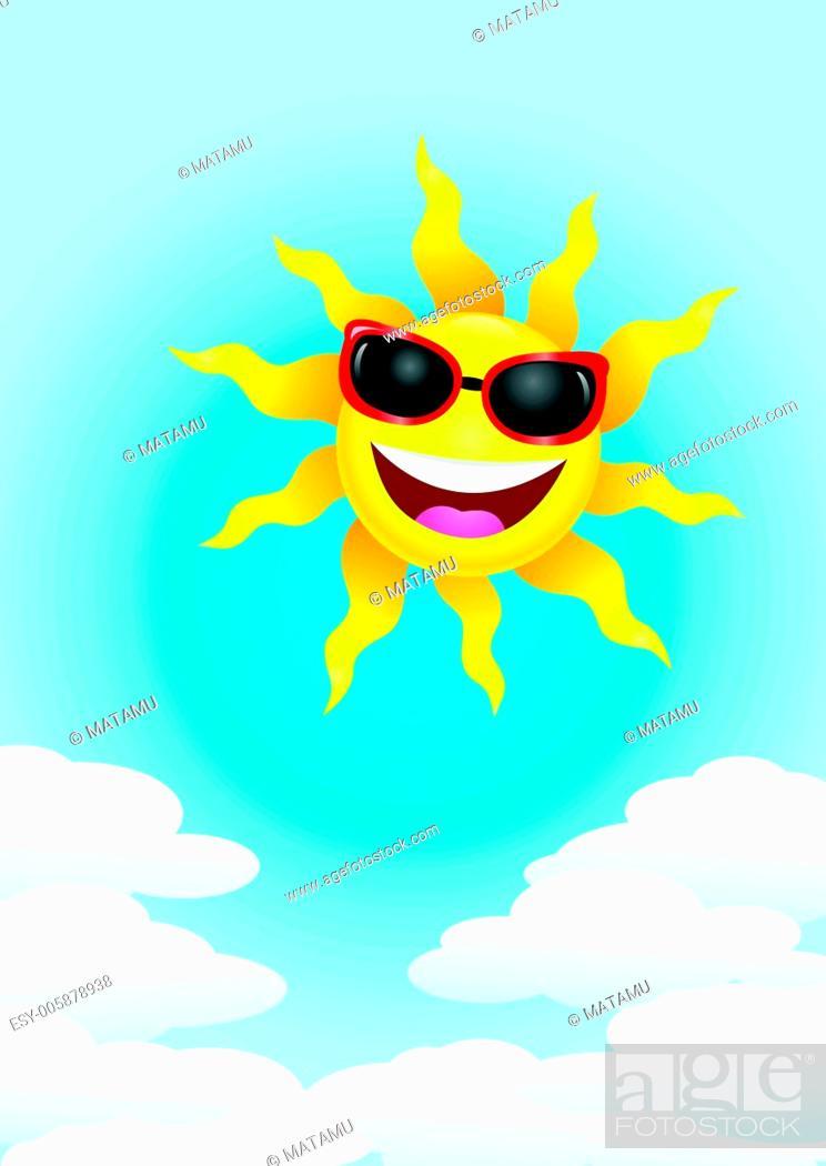 Stock Vector: Sun cartoon.