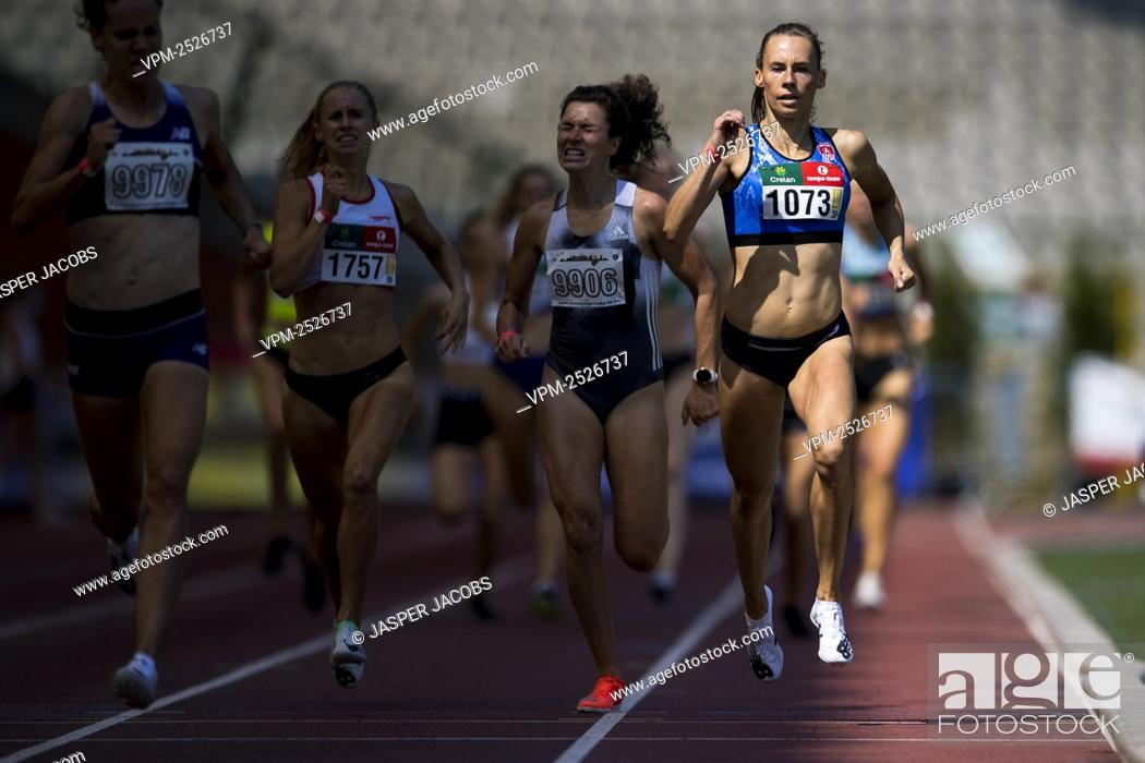Imagen: Belgian Renee Eykens pictured in action during 800m race at the 'Brussels Grand Prix' athletics meeting, in Brussels, Sunday 09 August 2020.