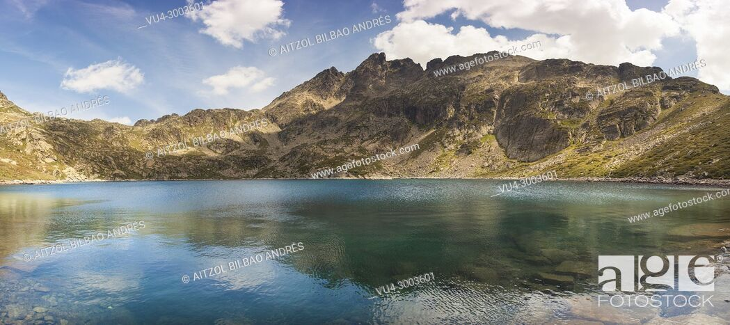 Stock Photo: Andorra a really small country between France and Spain, haves a magical places like this one, Juclar lake.