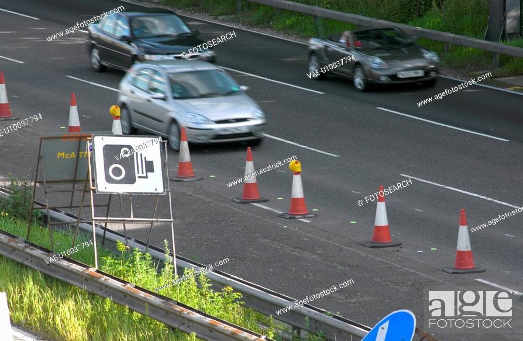 Stock Photo: Motorway maintenance.