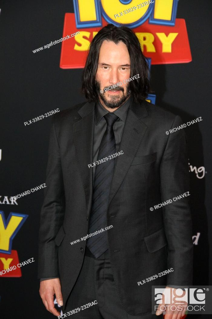 """Stock Photo: Keanu Reeves at the Disney/Pixar's World Premiere of """"""""Toy Story 4"""""""". Held at the El Capitan Theater in Hollywood, CA, June 11, 2019."""