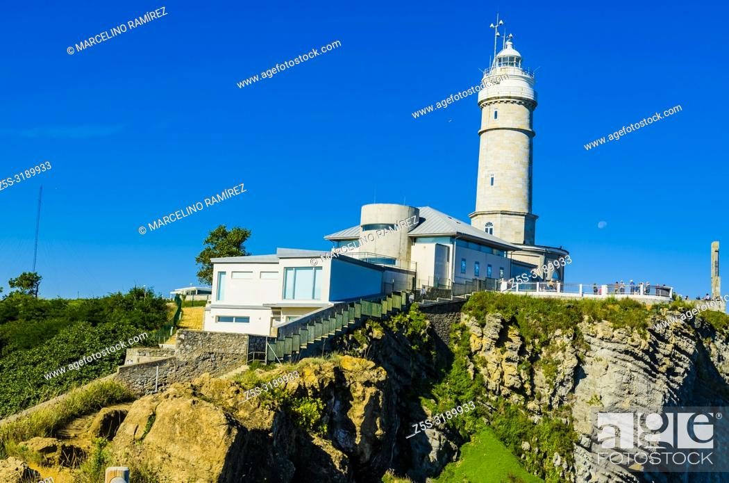 Stock Photo: Cabo Mayor lighthouse. Santander, Cantabria, Spain, Europe.