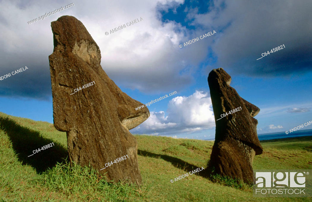 Stock Photo: Moais. Easter Island, Chile.