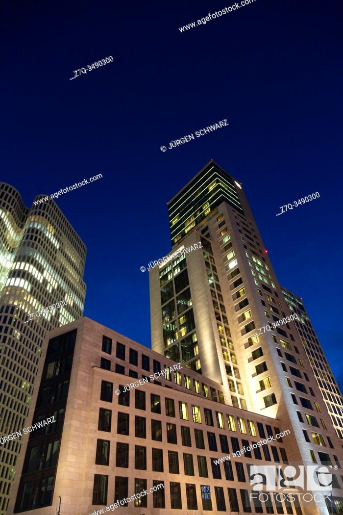 Residential And Office Building With Hotel Motel One Berlin Upper West And Waldorf Astoria In Stock Photo Picture And Rights Managed Image Pic Z7q 3490300 Agefotostock