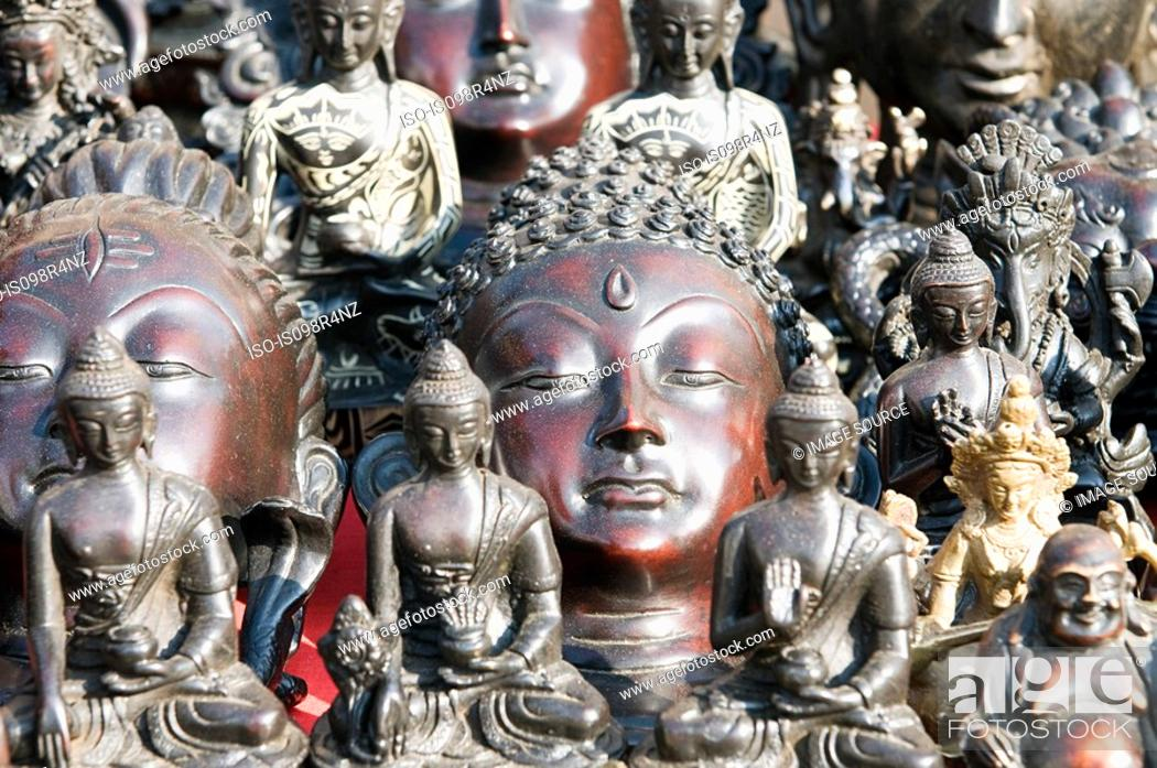 Stock Photo: Buddha statues.