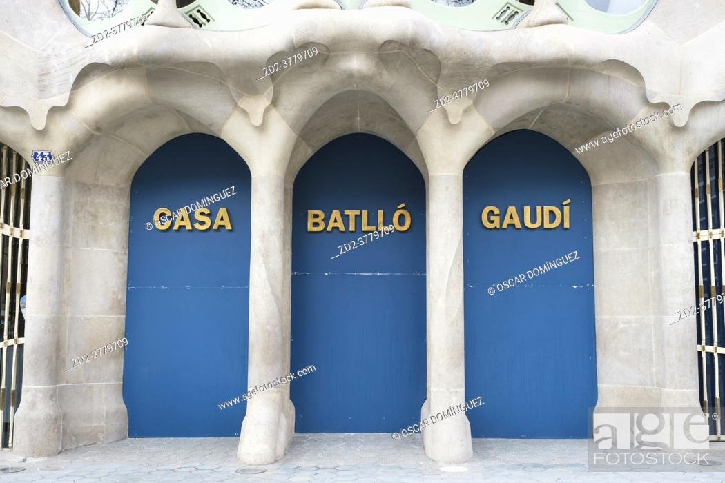 Imagen: The Casa Batlló in Barcelona has been closed since 29 October 2020 due to a labour conflict with part of the staff. Employees of the external company.
