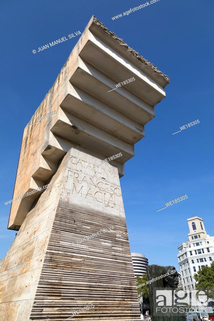 Stock Photo: Plaza Catalunya, Barcelona, Spain.