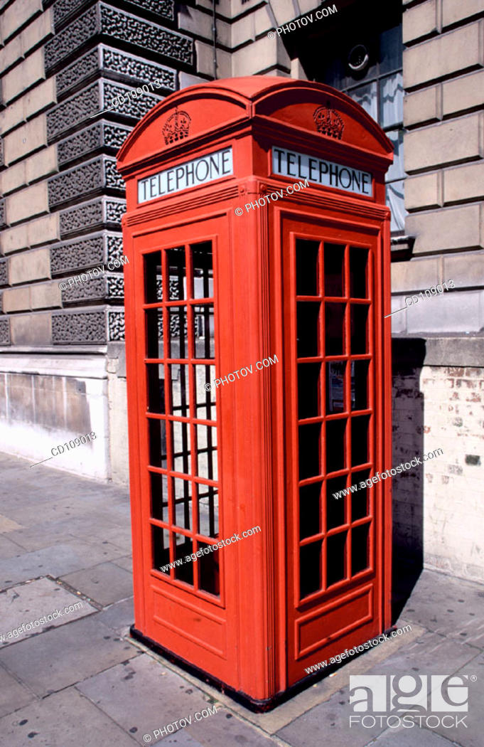 Stock Photo: Telephon booth. London. England.