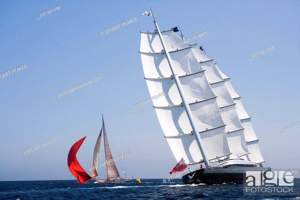 Stock Photo: The Super Yacht Cup, Palma de Mallorca, Spain.