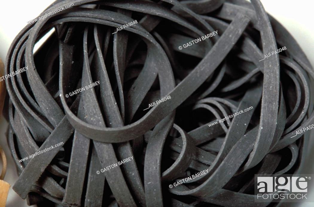 Stock Photo: Pasta - Black Sepia Pasta.
