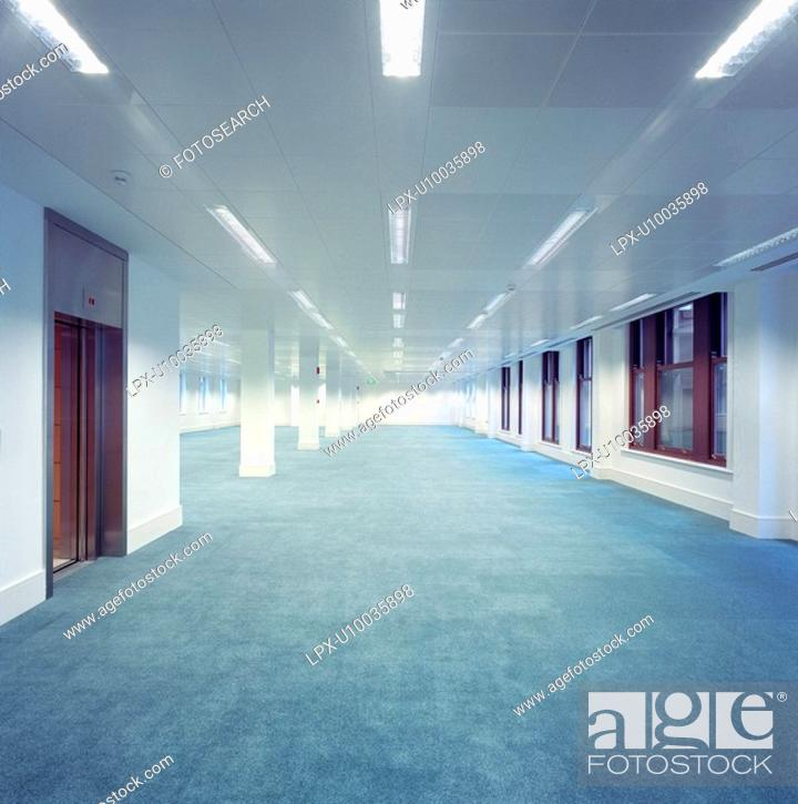 Stock Photo: Deserted interior of office building.