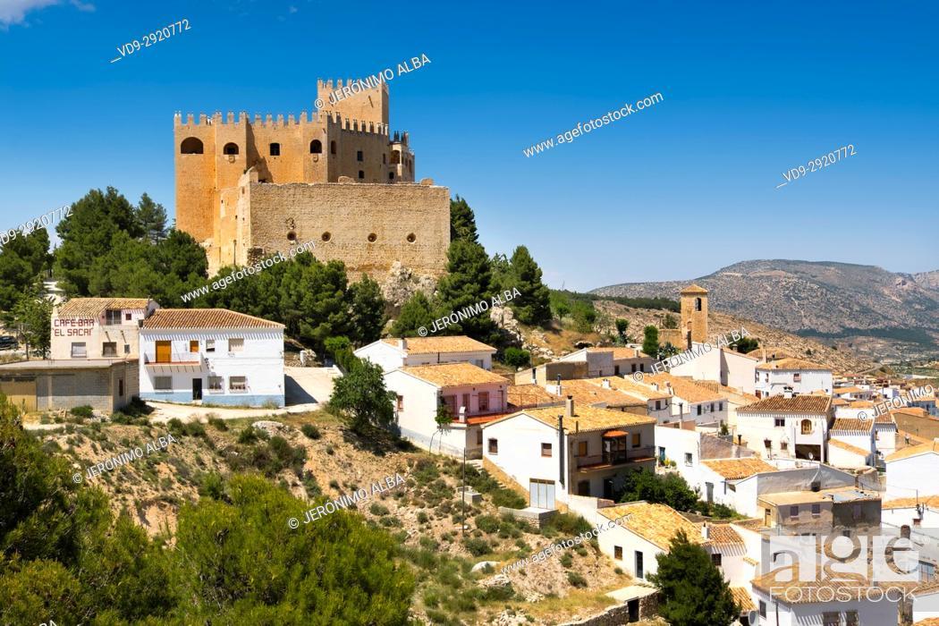 Stock Photo: Moorish castle and village of Velez Blanco. Almeria province, Andalusia, Southern Spain Europe.