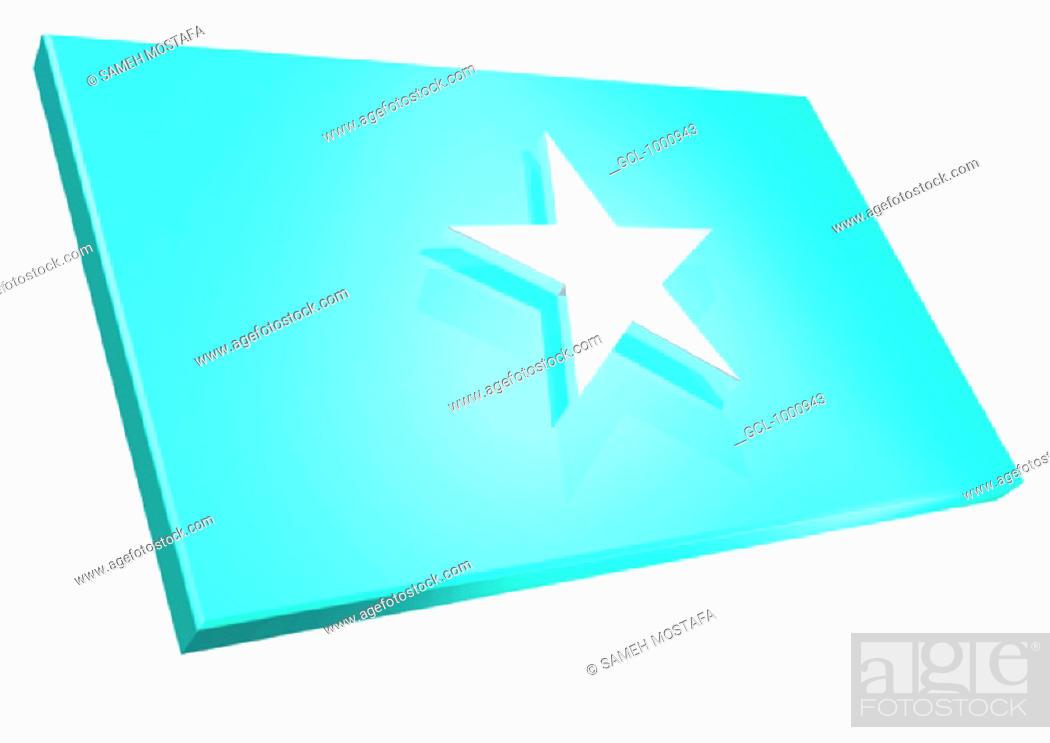 Stock Photo: flag of Somalia.