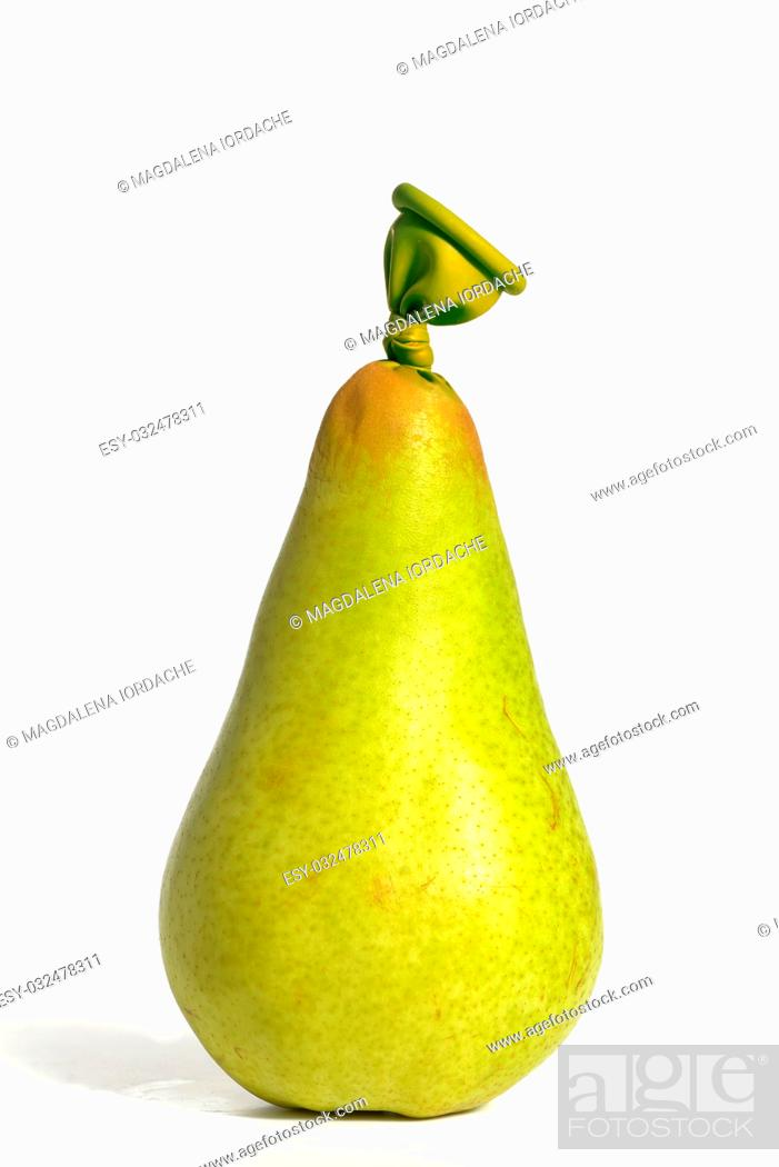 Stock Photo: Abstract pear fruit from balloons.