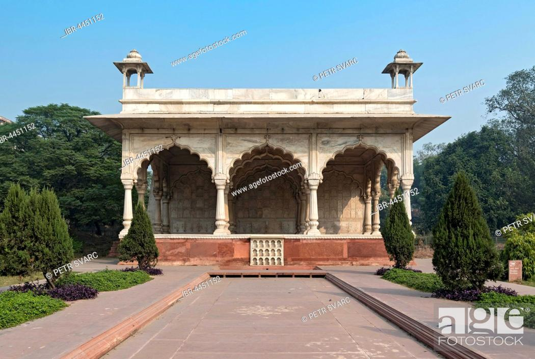 Stock Photo: Sawan Bhadon Pavilion, Red Fort complex, Old Delhi, Delhi, India.