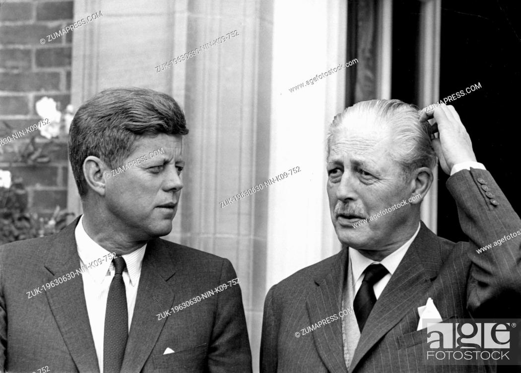 Stock Photo: June 30, 1963 - Birch Grove, Sussex, U.K. - Born into a rich, politically connected Boston family JOHN F. KENNEDY was the youngest person elected U.S.