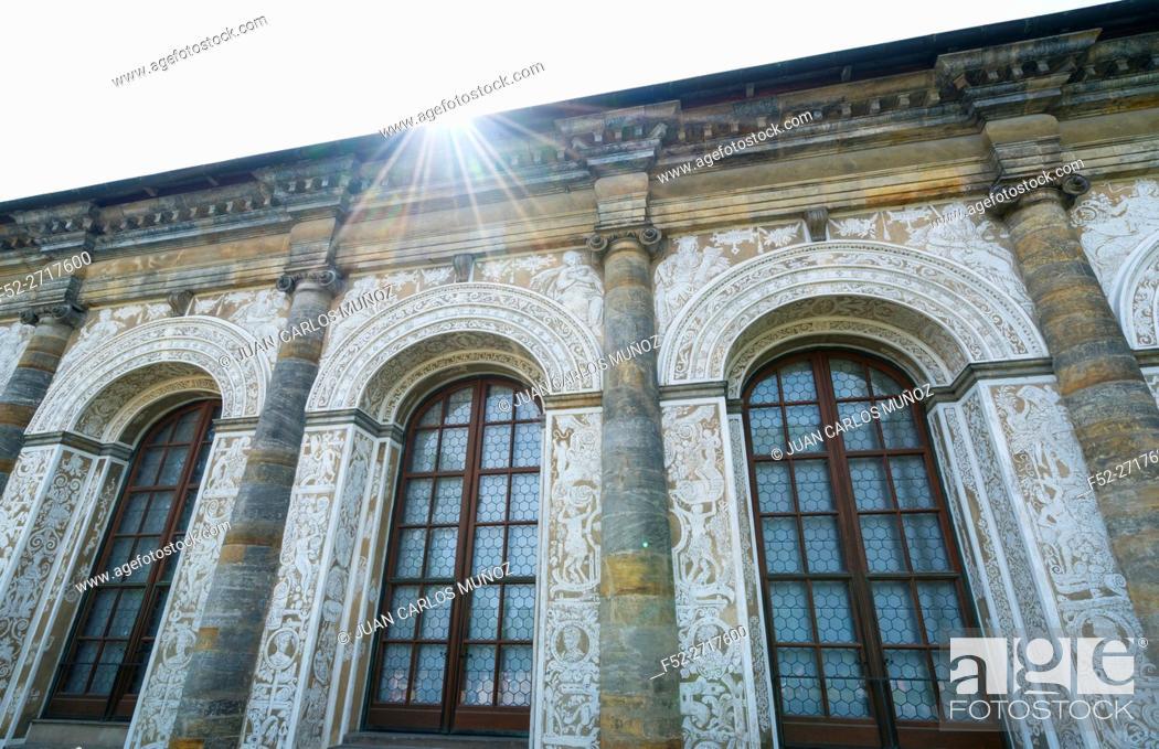 Stock Photo: The Ball Game Hall, Renaissance Palace, Prague Castle, Prazsky hrad, Prague, Czech Republic, Europe.