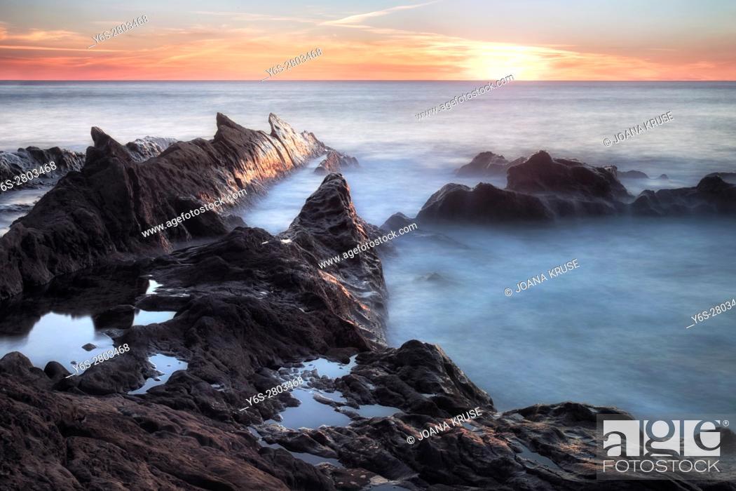 Stock Photo: El Golfo, Lanzarote, Canary Islands, Spain, Europe.