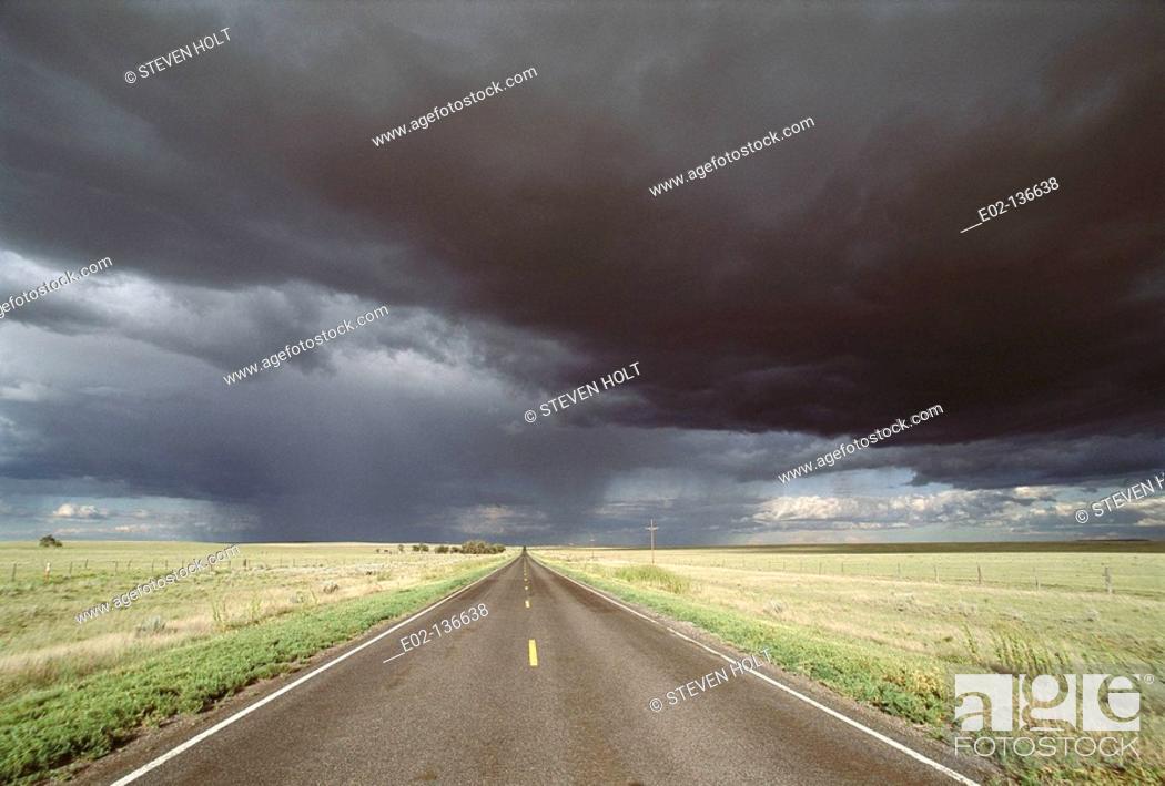 Stock Photo: Country road. Colorado, USA.