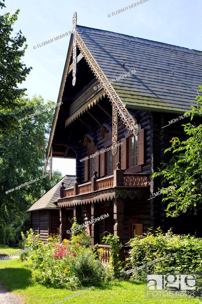 Stock Photo Potsdam Dorf Russische Kolonie Alexandrowka Holzhaus Nr 12