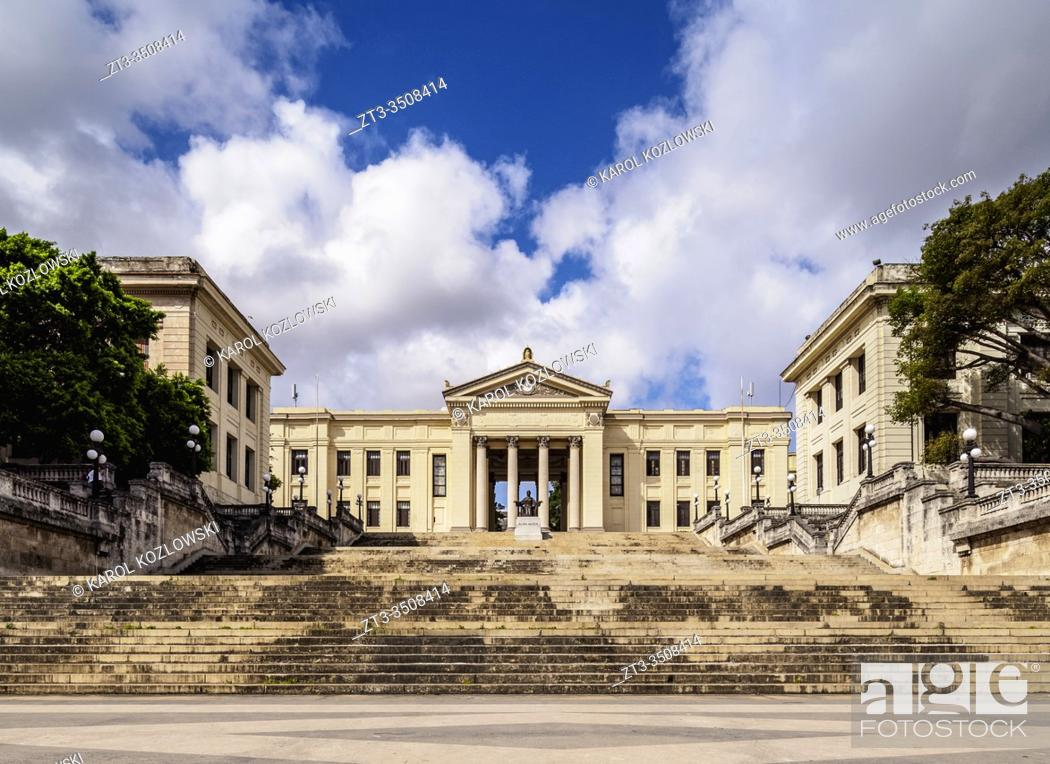 Stock Photo: University of Havana, Vedado, Havana, La Habana Province, Cuba.