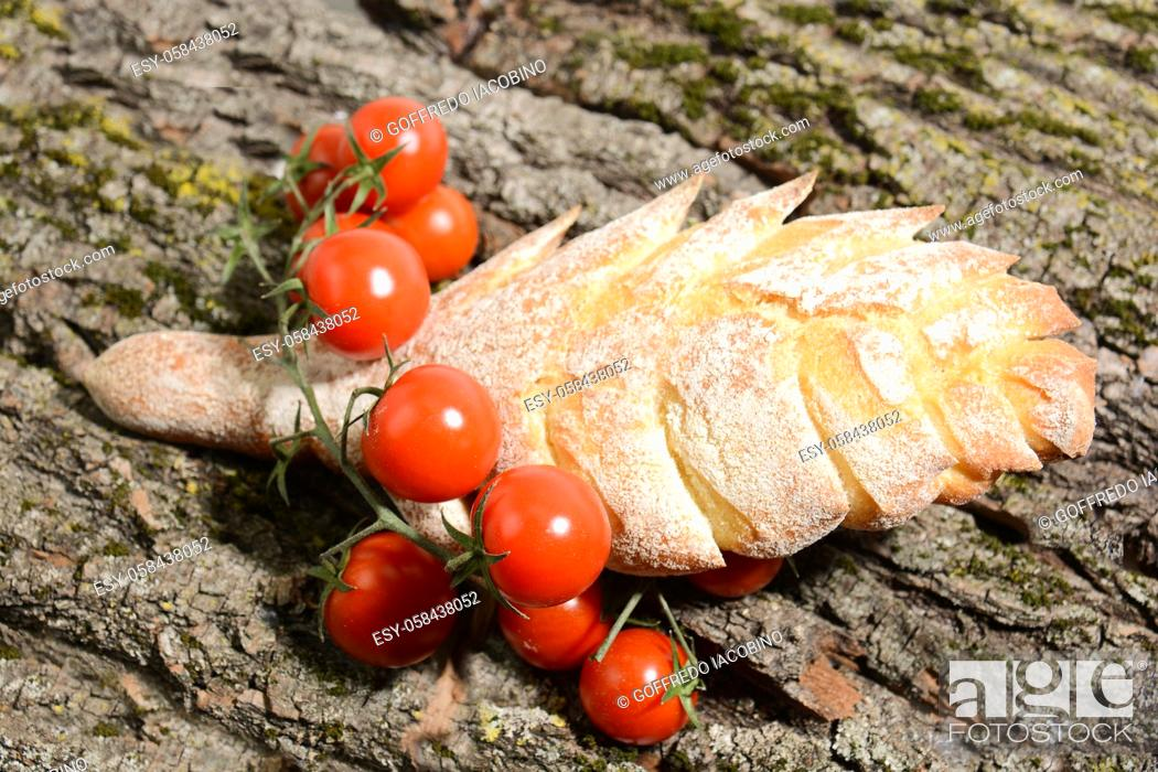 Stock Photo: Italian food for Mediterranean healthy diet.