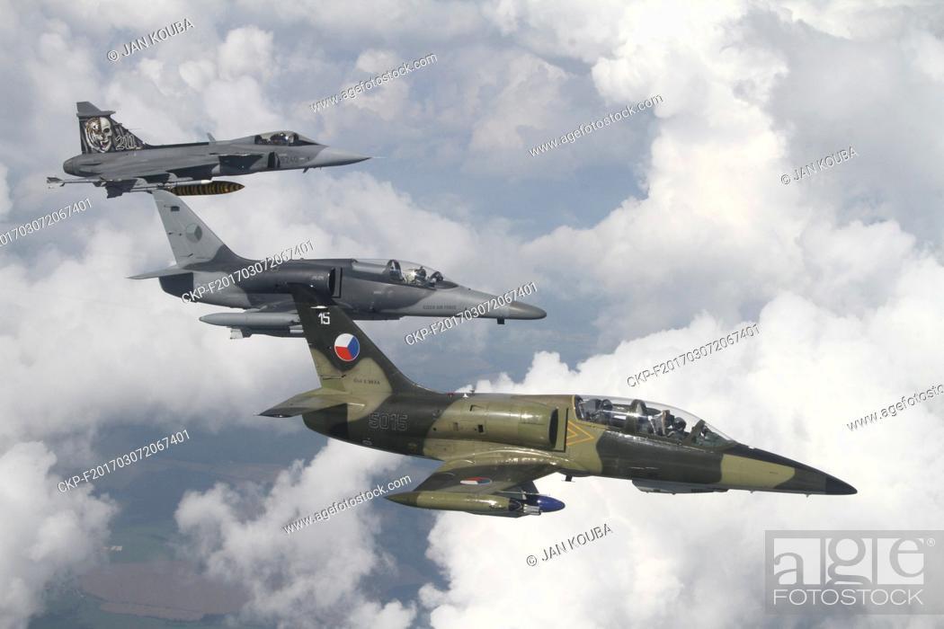 Czech JAS-39 Gripen, L-159 fighter planes and L-39 Albatros