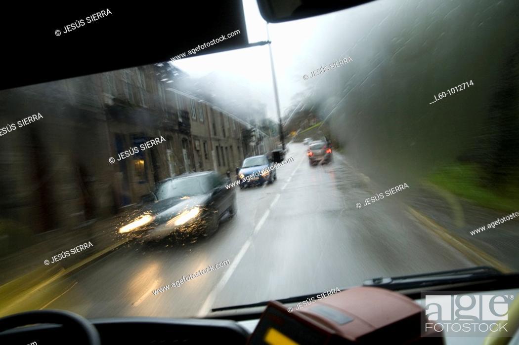 Stock Photo: Traffic, Santiago de Compostela, La Coruña province, Galicia, Spain.