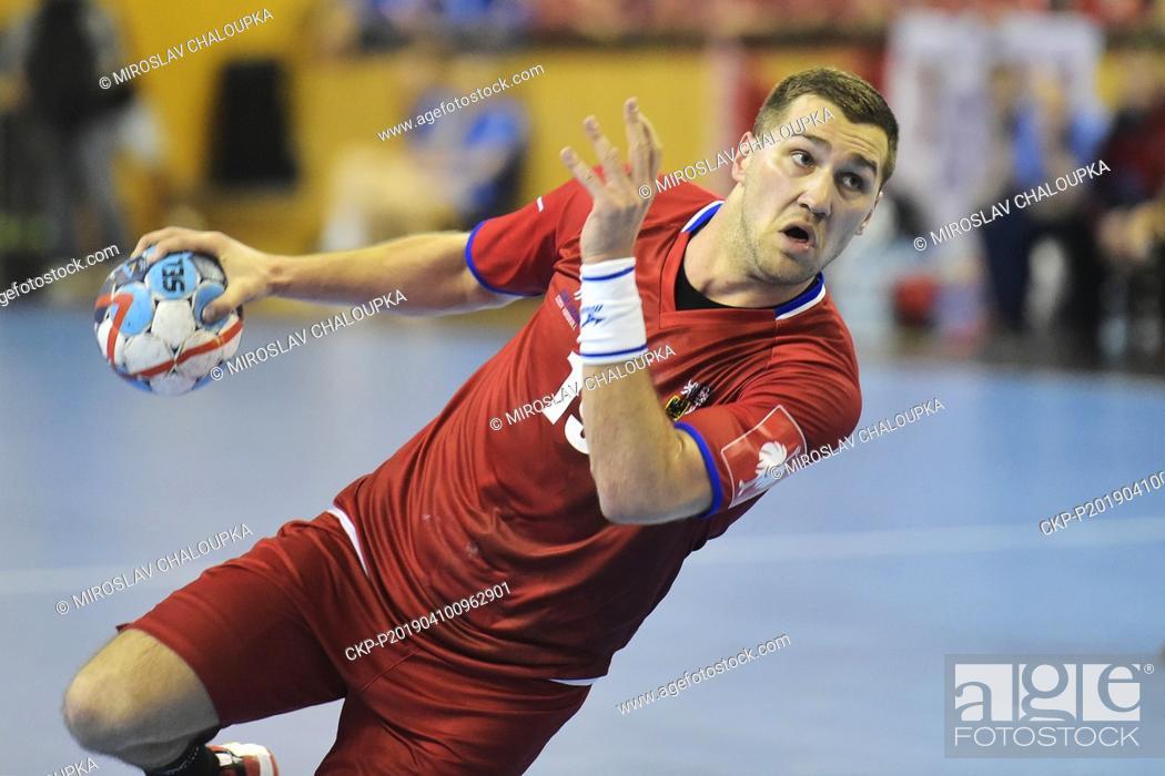 Tomas Babak Of Czech Republic In Action During The Handball