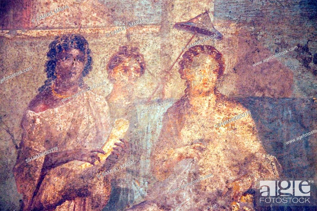 Stock Photo: Italy, Naples, Naples Museum, from Pompeii, House of Meleager VI 9, 2.13, Dido Abandoned.