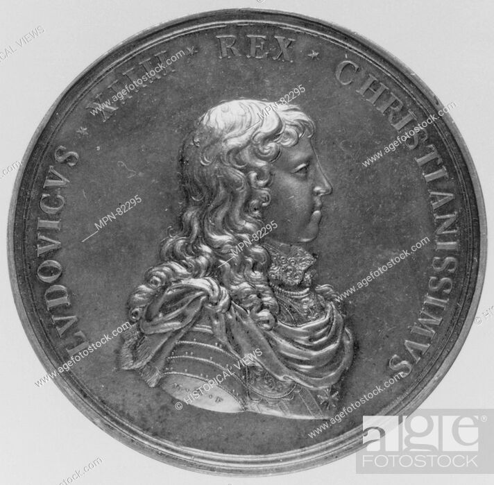 Imagen: Louis XIV. Artist: Medalist: Michel Molart (French, Dieppe 1641-1713 Dieppe); Date: 1643; Culture: French; Medium: Bronze; Dimensions: Diameter: 2 7/16 in.