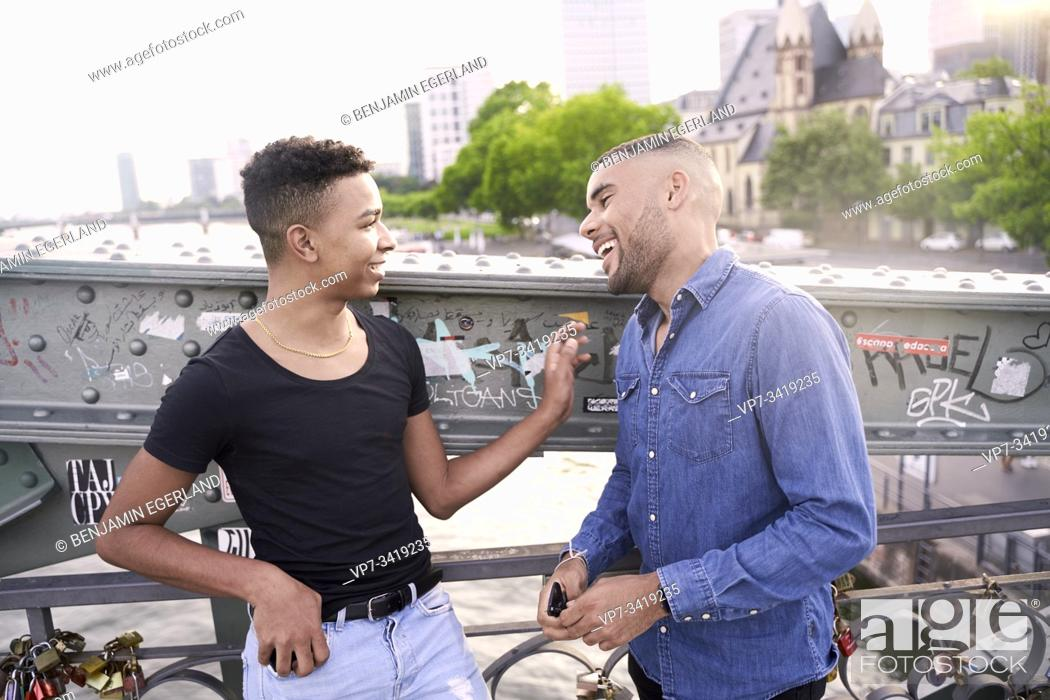Stock Photo: Gay couple. Frankfrut am Main, Germany.