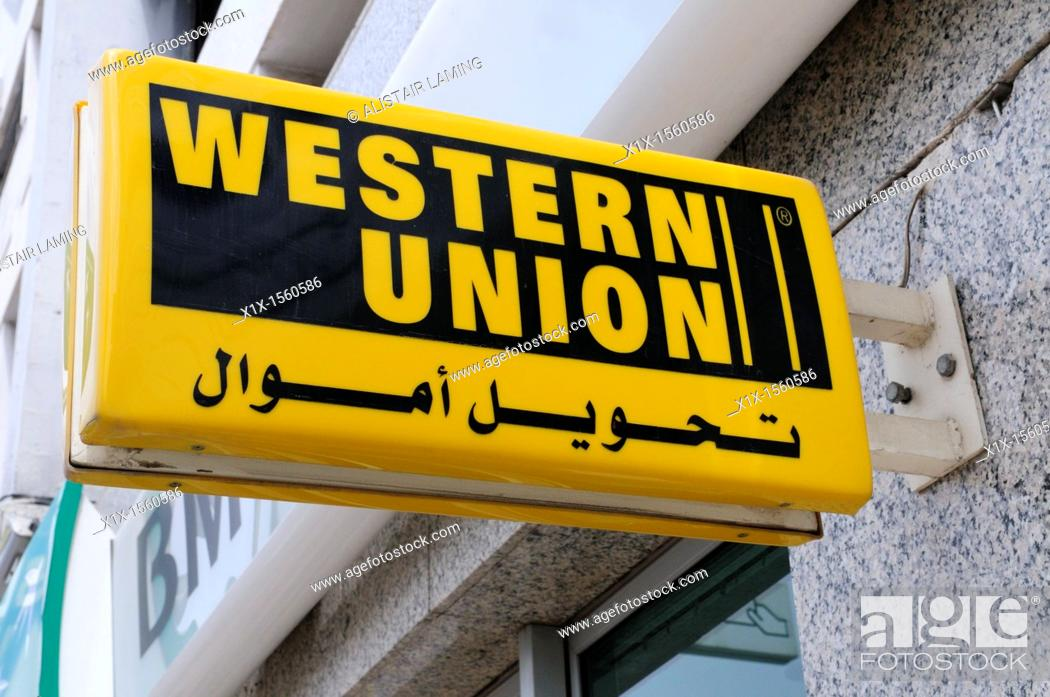 Bilingual Western Union Sign Agadir Morocco Stock Photo Picture And Rights Managed Image Pic X1x 1560586 Agefotostock