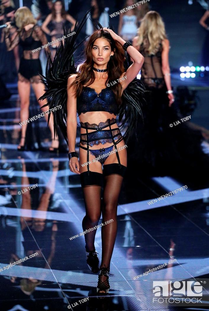 df35d5d35c0 Stock Photo - Victoria s Secret Fashion Show 2014 London held at Earl s  Court - Catwalk Featuring  Lily Aldridge Where  London