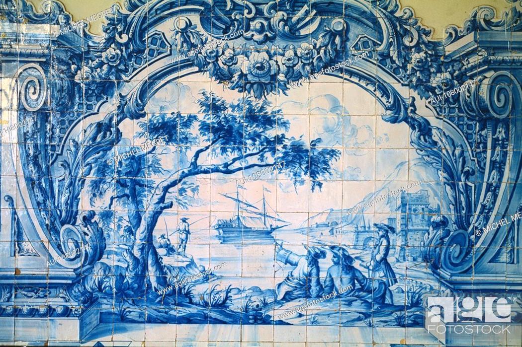 Stock Photo: Portugal - Lisbon - Azulejos.