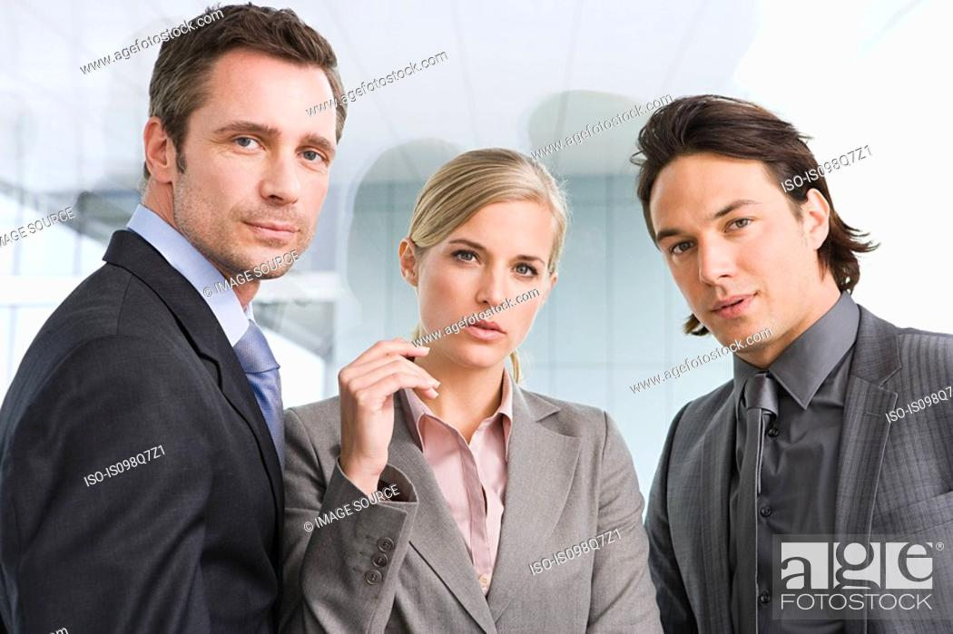 Stock Photo: Businesspeople.