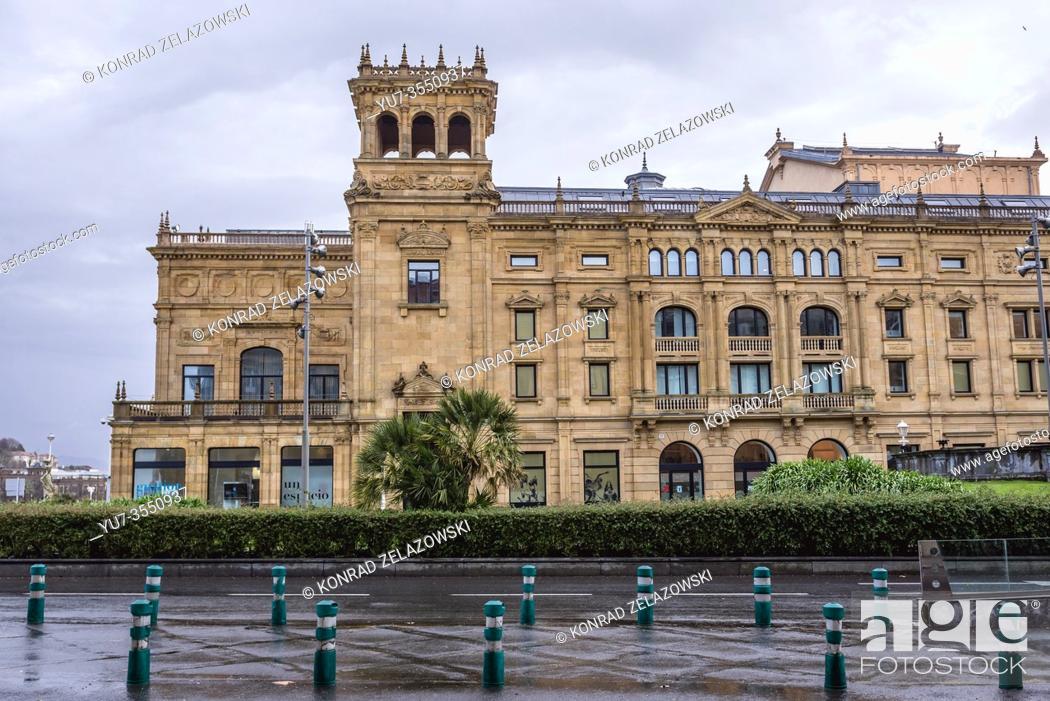 Stock Photo: Victoria Eugenia Theater in San Sebastian coastal city located in the Basque Autonomous Community, Spain.