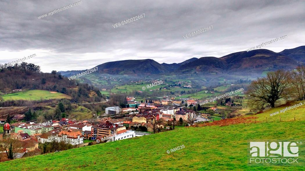 Stock Photo: Infiesto, Piloña municipality, Asturias, Spain.