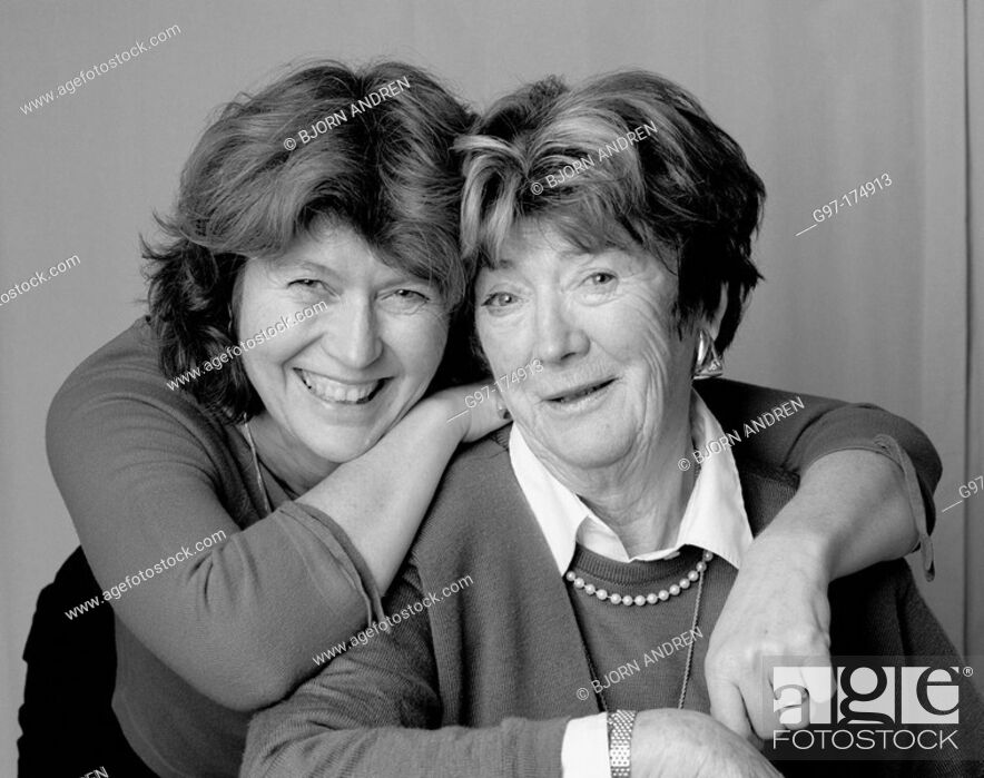 Stock Photo: Elderly mother and daughter.