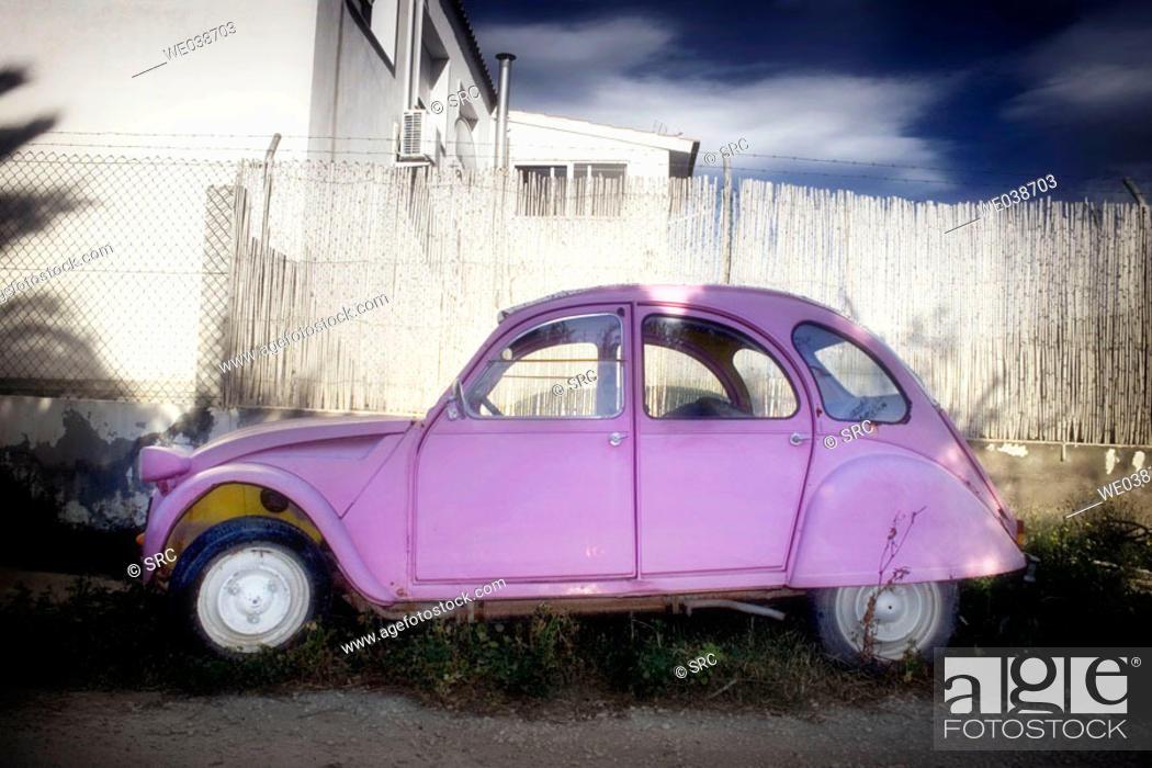 Stock Photo: Citroën 2CV, abandoned.