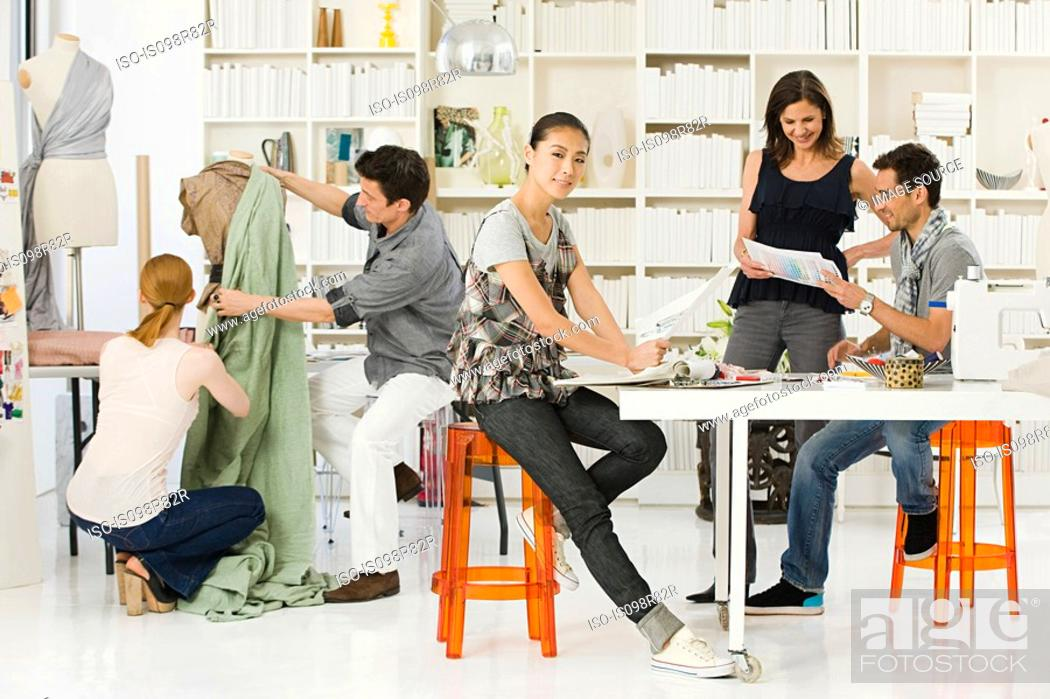 Fashion Designers At Work Stock Photo Picture And Royalty Free Image Pic Iso Is098r82r Agefotostock